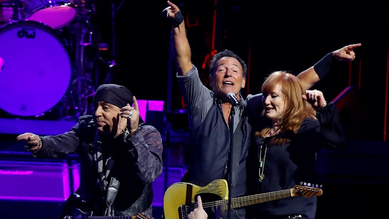 Bruce springsteen och hans E Street Band. Foto: Keith Srakocic