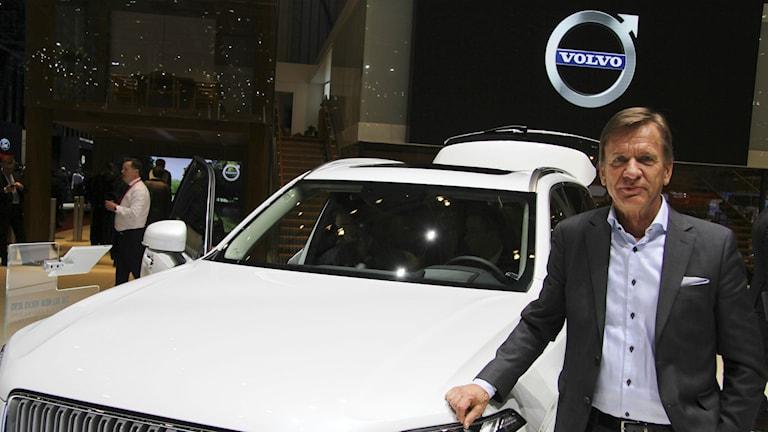 Volvo Cars vd Håkan Samuelsson är nöjd med mottagandet av nya Volvo XC90 i våras. Foto: Karin Olander/TT Bild