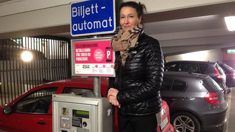 Maria Stenström, vd för Parkeringsbolaget i Göteborgs kommun. Foto: Erica Hedin / Sveriges Radio.