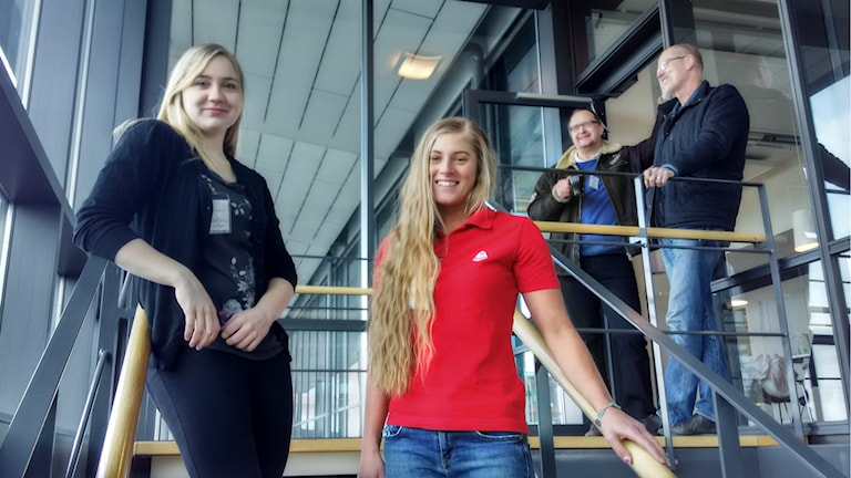 Hanna Rutström och Teddie Falkeborn i Göteborg HC. Foto: Jesper Cederberg/Sveriges Radio