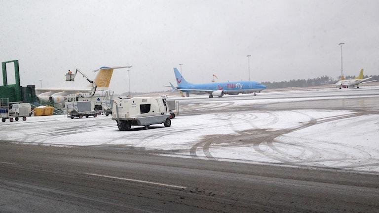 Flygplan på Landvetter flygplats.