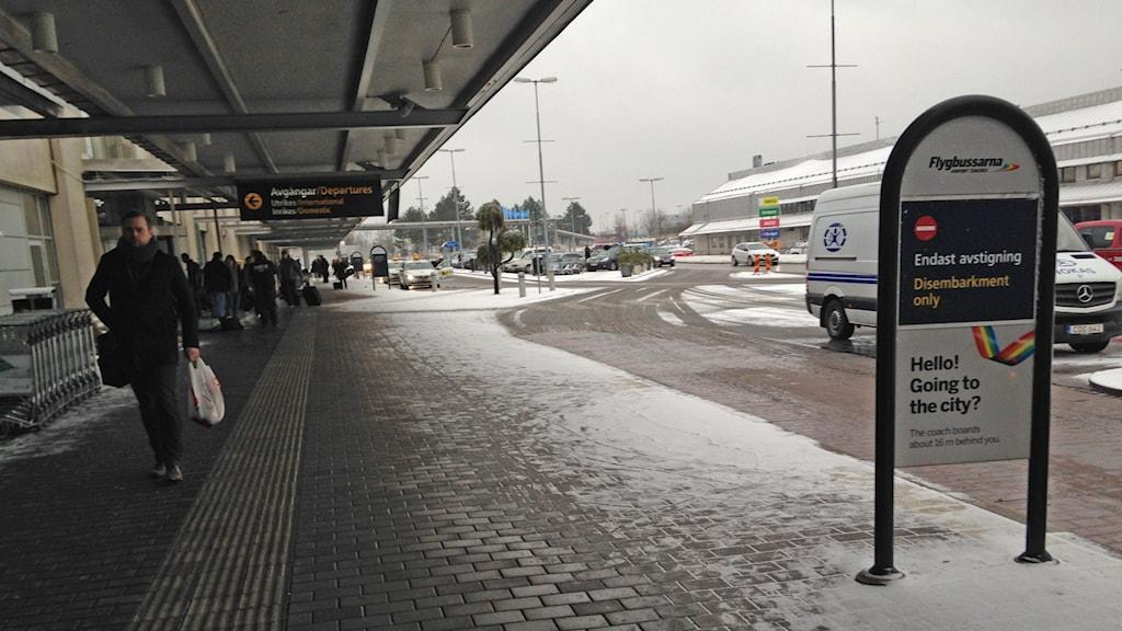 Gatan utanför Landvetter flygplats