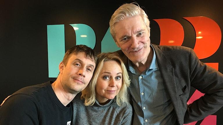 Claes Månsson, Annika Andersson och Ola Forssmed.