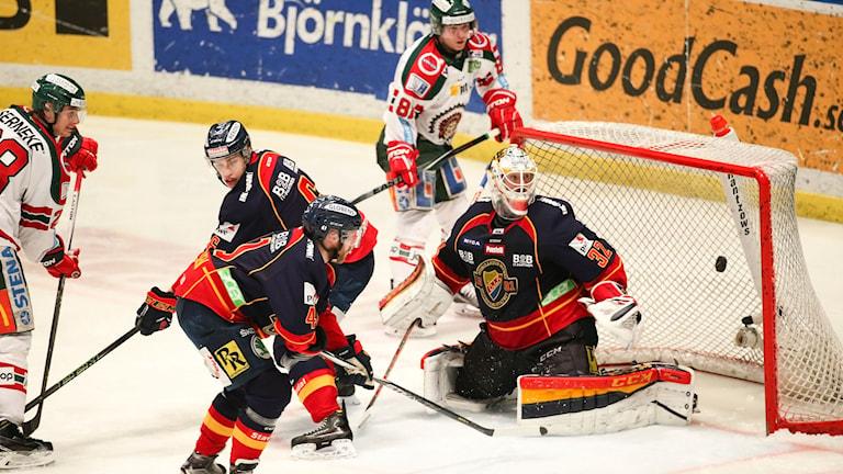 Frölundas enda mål mot Djurgården.