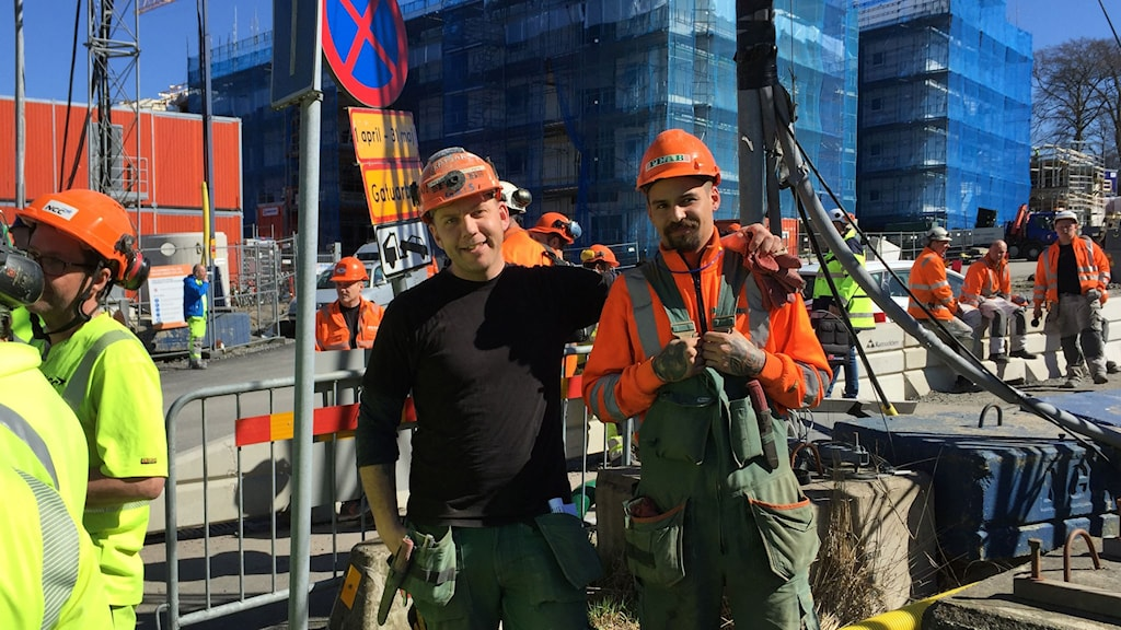 Efter strejkmötet på Stora Torp Niklas Rapo och Jim Dahlmark.