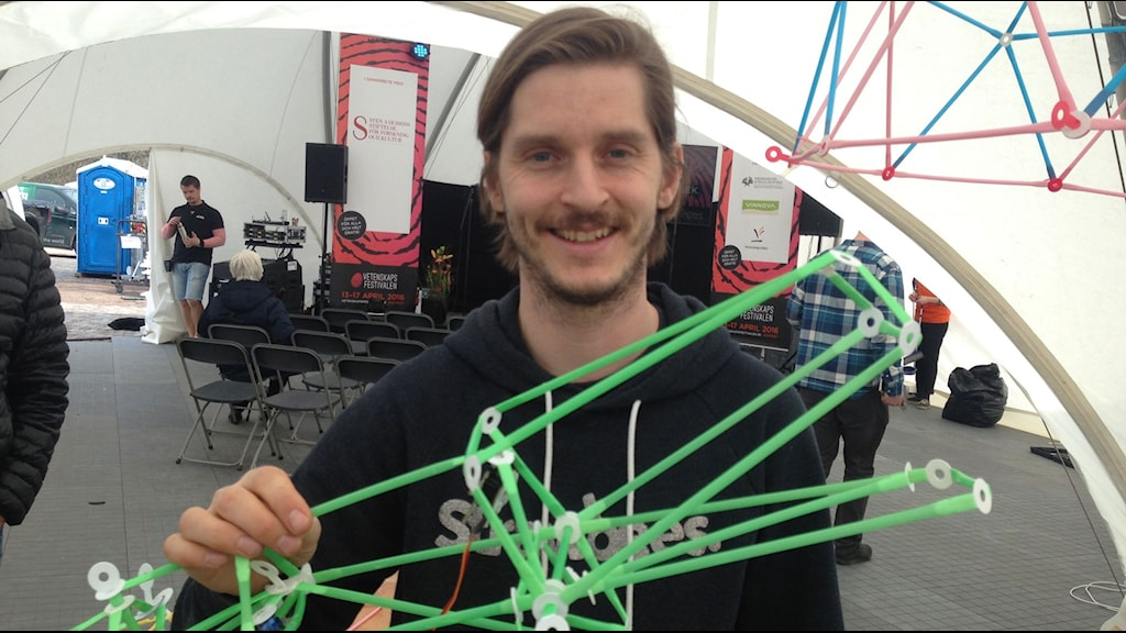Civilingenjören Erik Torstensson medverkar på Vetenskapsfestivalen.