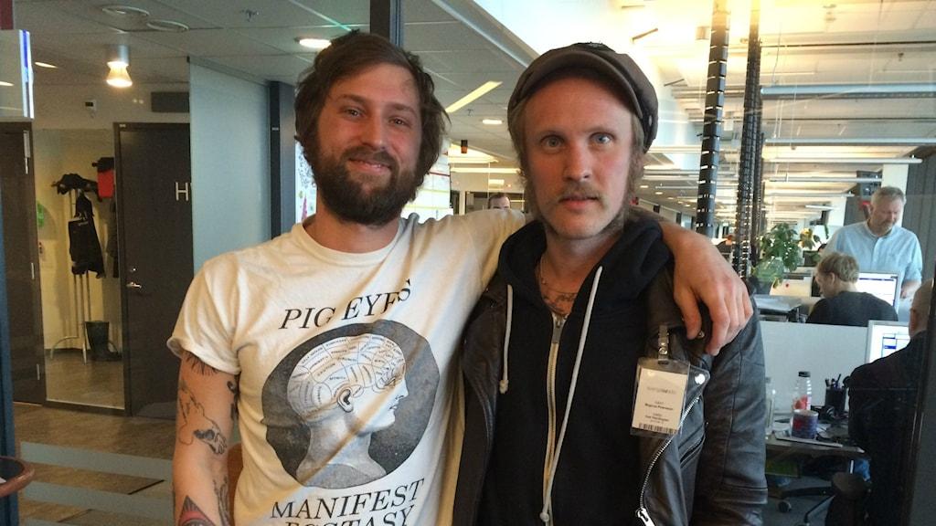 Jacob Mortensen och Magnus Petersson från bandet Tomma Intet
