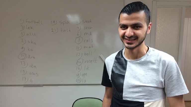 Abdulkarim Fallaha är glad att ha fått uppehållstillstånd.
