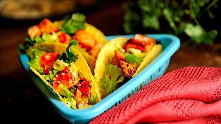 En bild på smarriga tacos