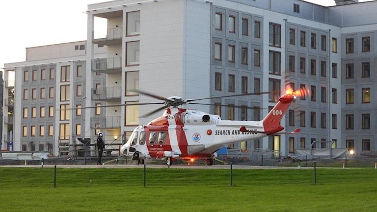 helikopter sjöräddning