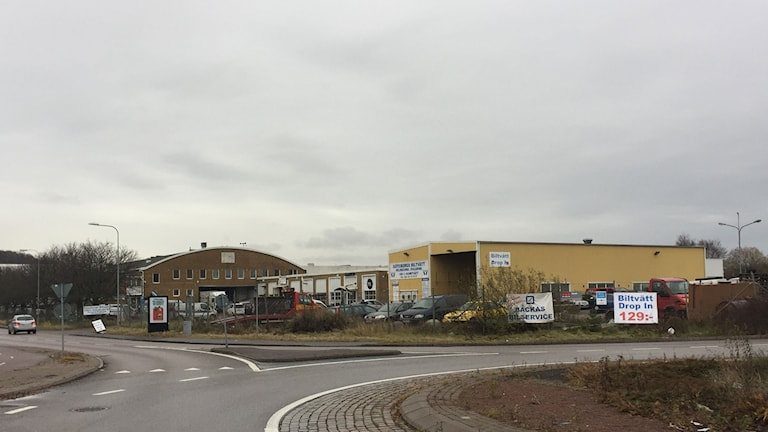 Bild på några stora industrilokaler
