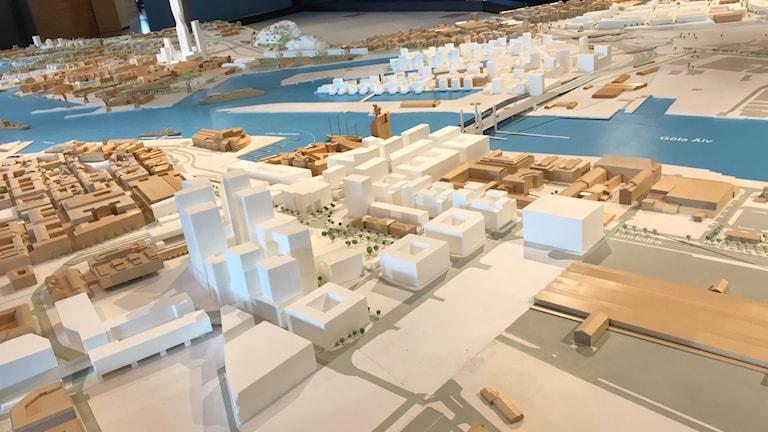 Modell av innerstaden i Göteborg