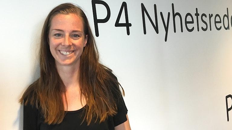 Lotta Schelin på besök hos P4 Göteborg