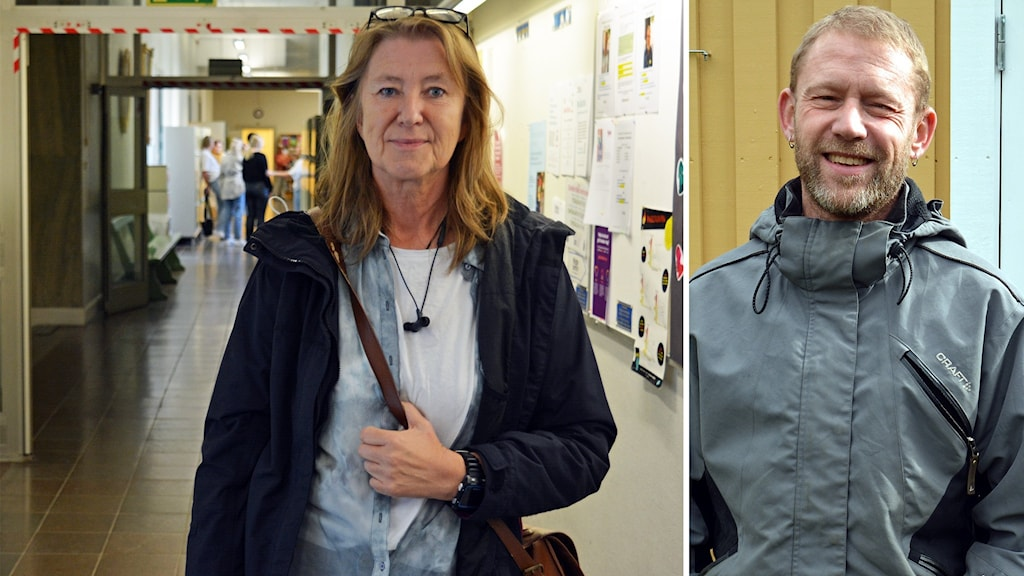 Till vänster läraren Marie Nilsson vid Vasaskolan i Gävle, till höger doktoranden Ola Nordhall vid Högskolan i Gävle.