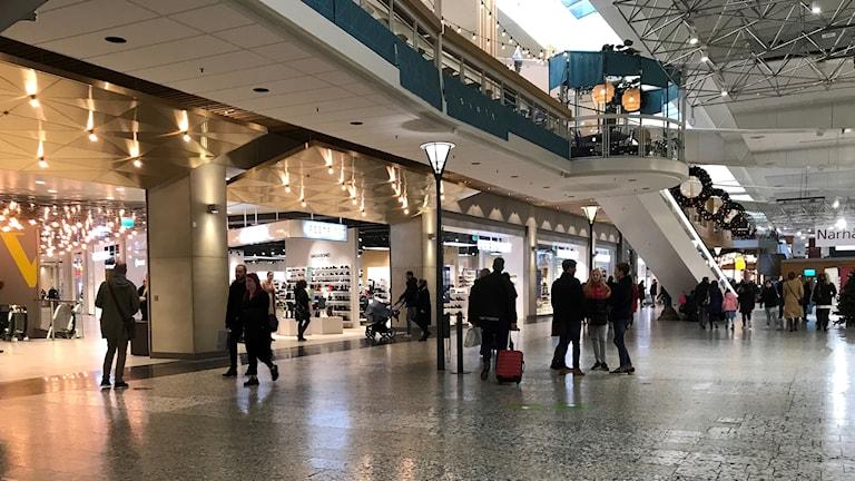 En bild inifrån Nordstans köpcentrum