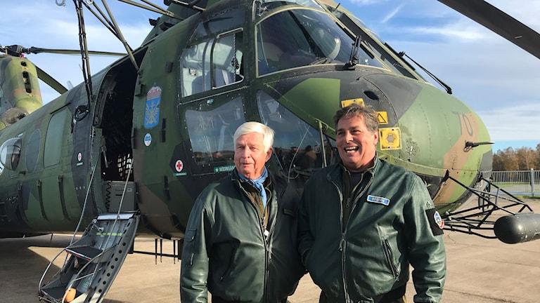 Piloterna Ingvar Johansson och Paul Hedren