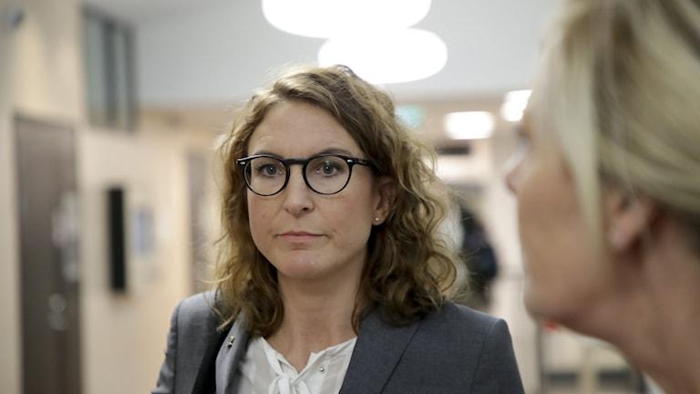 Åklagaren Caroline Fransson vid häktningsförhandling i Uddevalla tingsrätt.