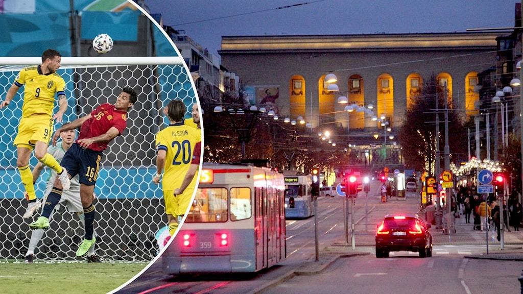 Fotbollspelare och gatan Avenyn