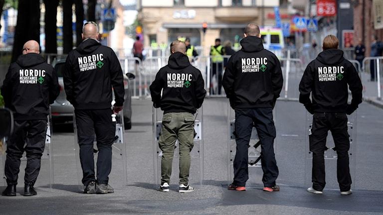NMR-demonstranter på Kungsholms Torg i Stockholm.