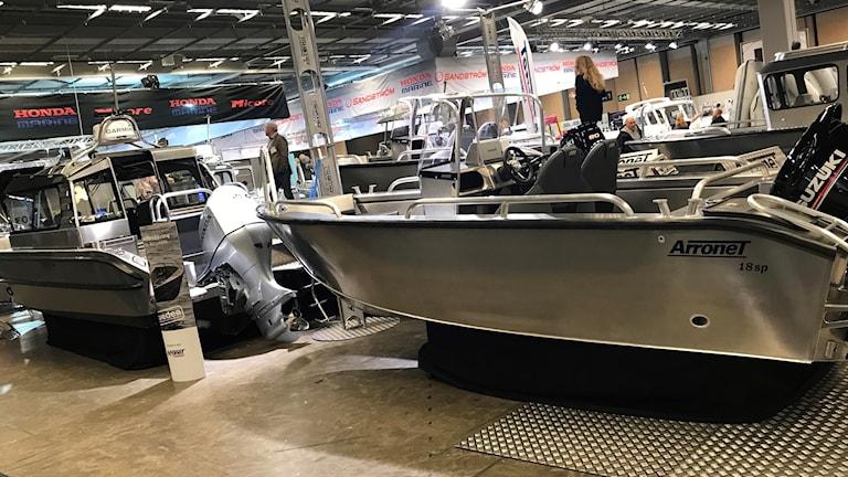 aluminumbåt på båtmässan