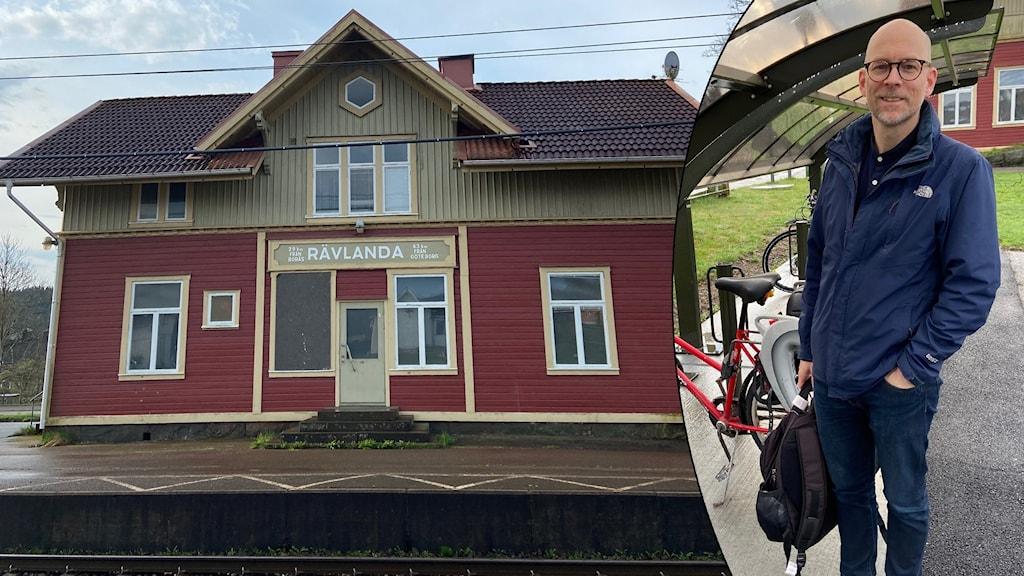 Richard Sköld och stationshuset i Rävlanda