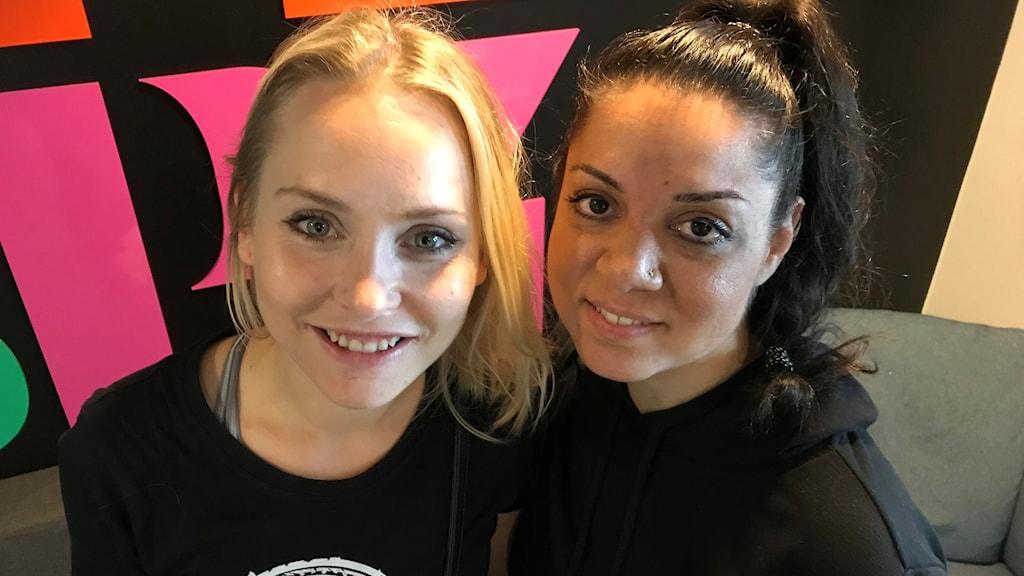 Musikproducenterna Melisha Linnell och Kimtina Malmcrona från festivalen EQLovesmusic.