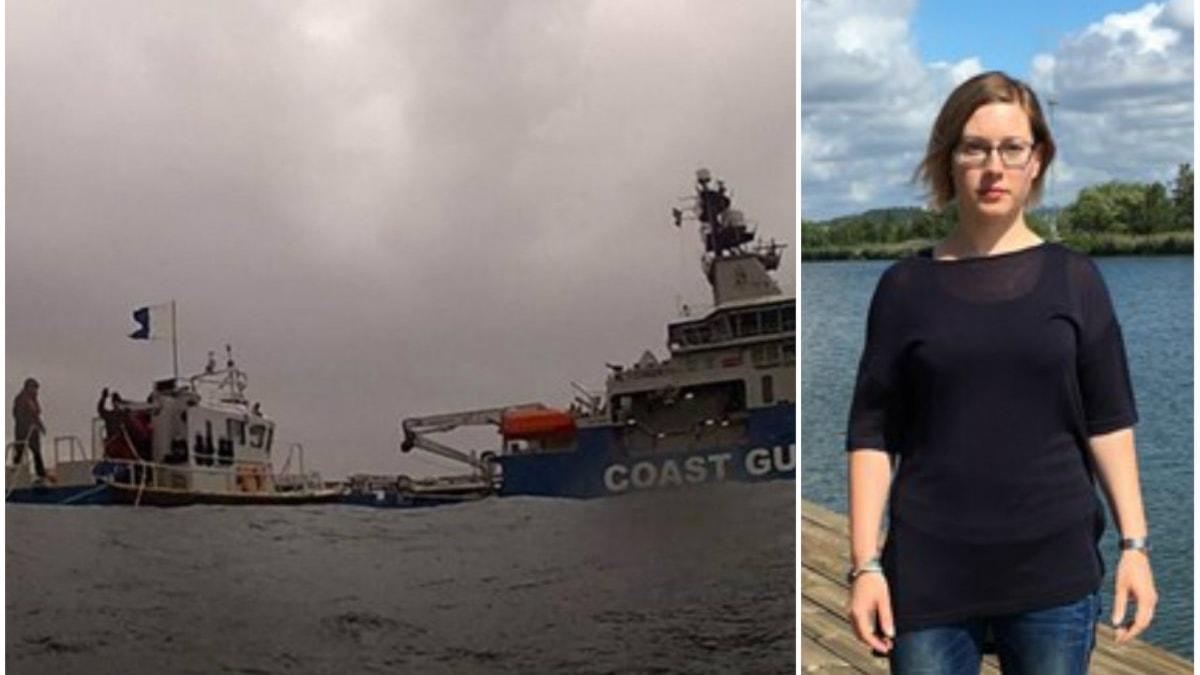 Kustbevakningen i arbete med miljöfarliga vrak. Frida Åberg, Havs och vattenmyndigheten.