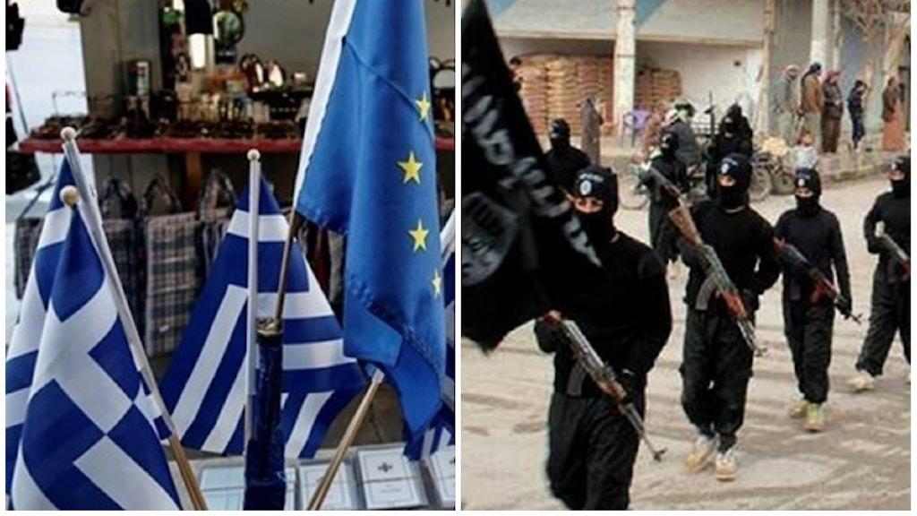 Islamiska staten, grekiska flaggan