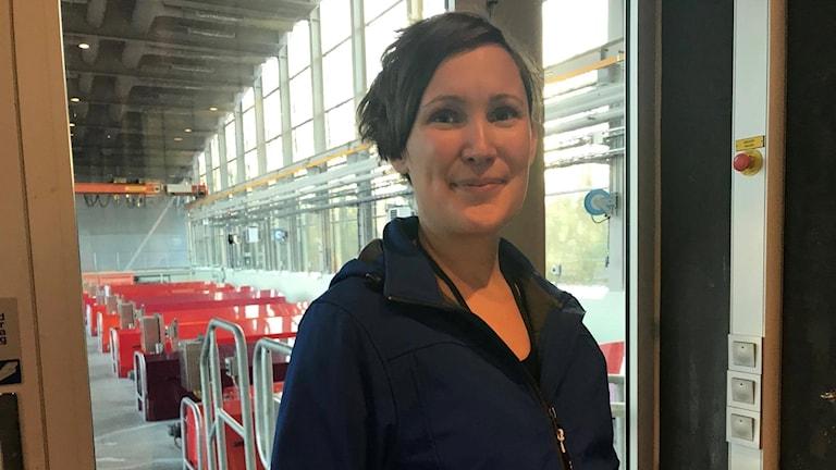 Sofia Cullberg är kommunikatör för avloppsreningsverket Gryaab.