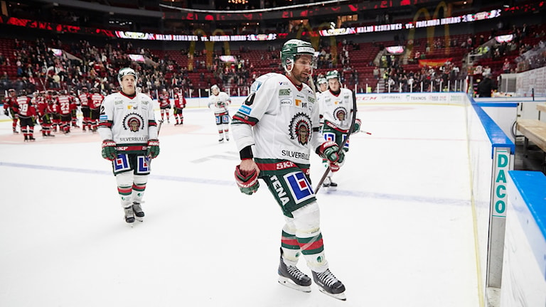 Frölundas Joel Lundqvist under lördagens ishockeymatch i SHL mellan IF Malmö Redhawks och Frölunda HC i Malmö Arena.
