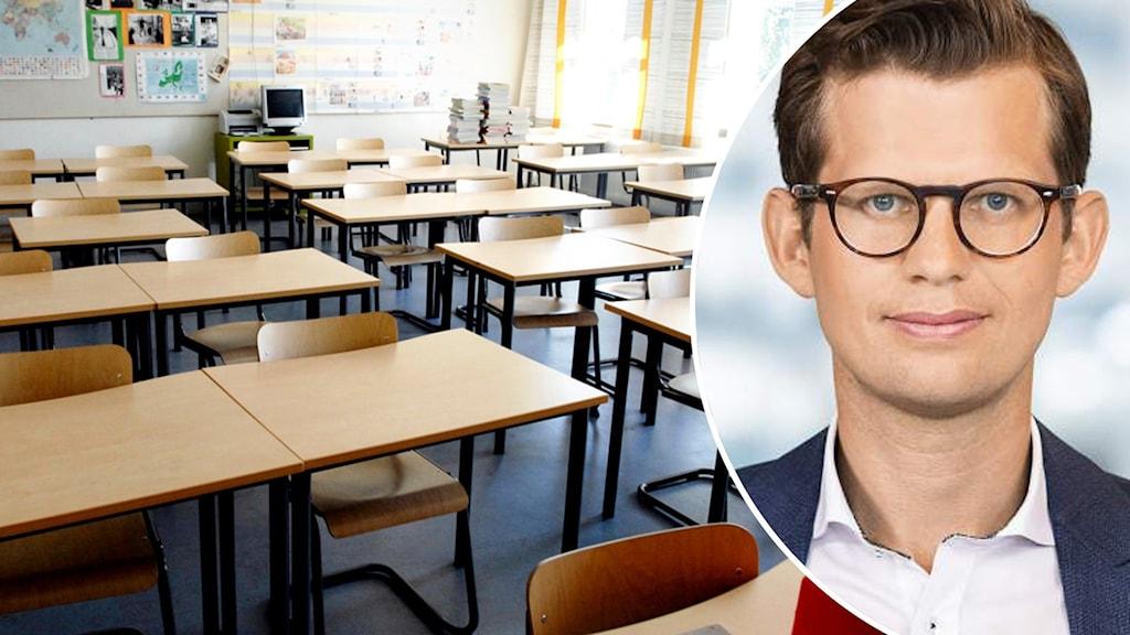 tomt klassrum samt politiker