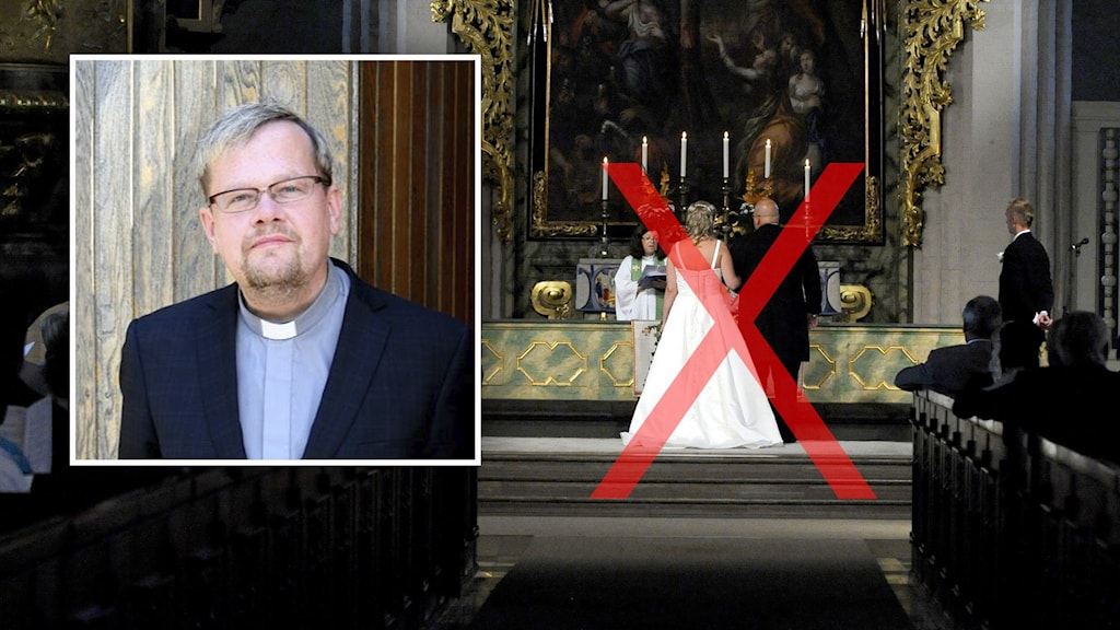 Prästen Lars Gårdfeldt från Carl Johans församling i Göteborg.