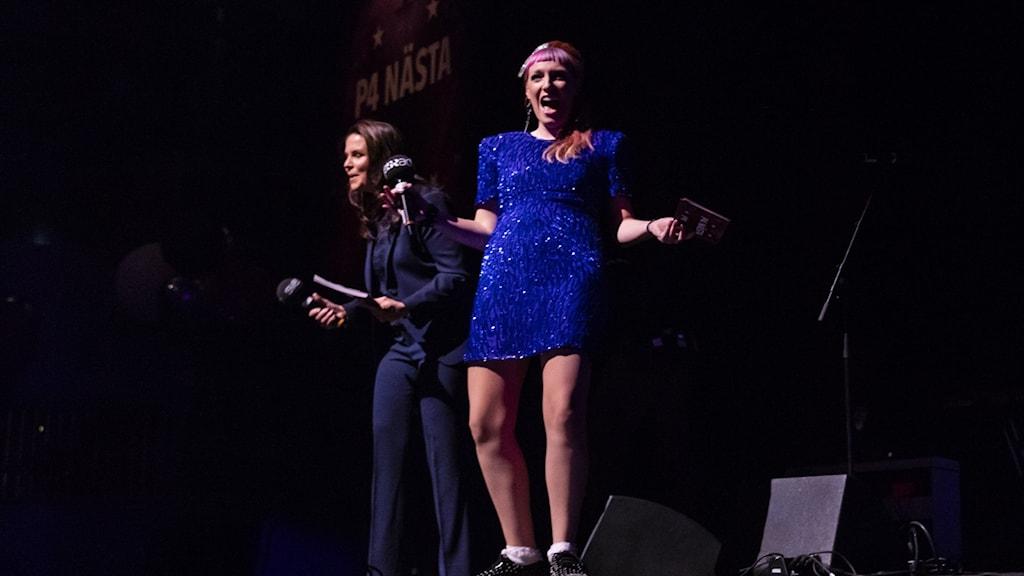 Titti och Josefin glada P4 Nästa-finalen 2018