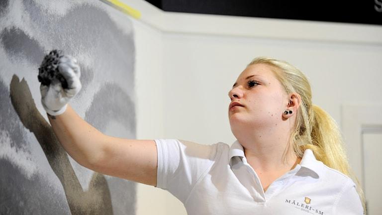 Målaren Sara Lowenstein från Sundsvall tävlade 2016 i yrkes -SM