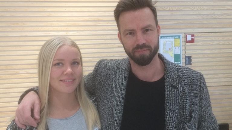 Emma Ekenman-Fernis och Henrik Signell, spelare och tränare i IK Sävehof