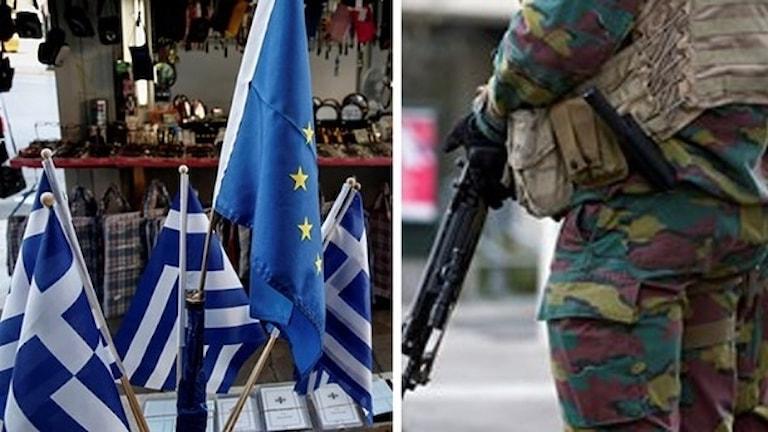 Den grekiska polisen grep de båda männen som är från Göteborgsområdet i Grekland i januari 2016. I dag startar rättegången.