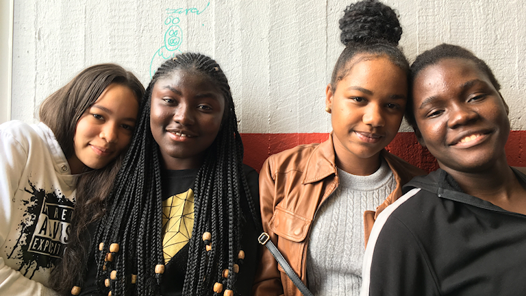 Elever på Ryaskolan i Göteborg