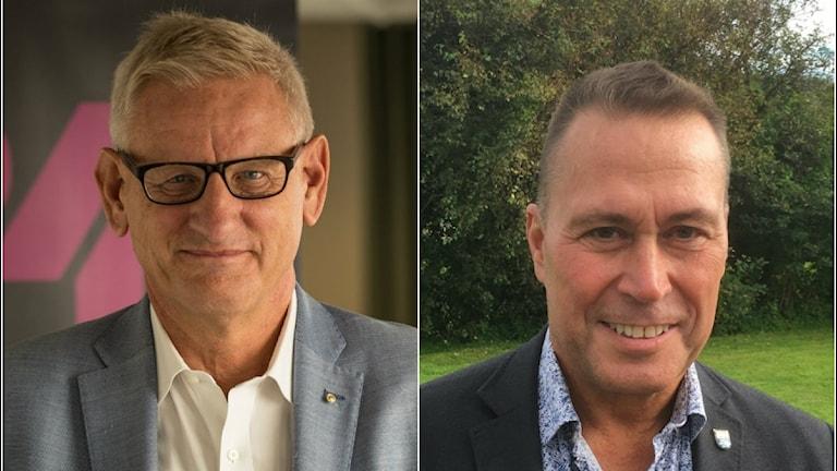 Carl Bildt moderat och Arne Lernhag , moderat från Öckerö