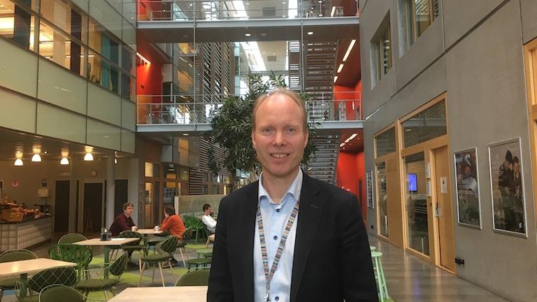 Ericssons platschef på Lindholmen i Göteborg, Erik Carlsson.