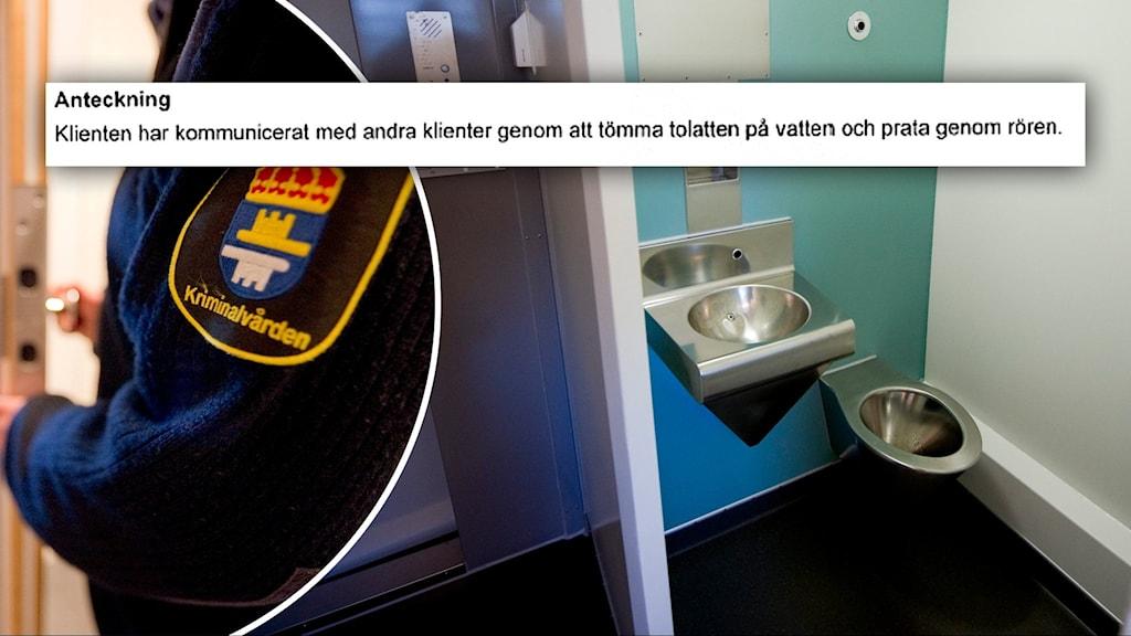 De åtalade ska ha kommunicerat genom toalettrören på häktet i Göteborg.