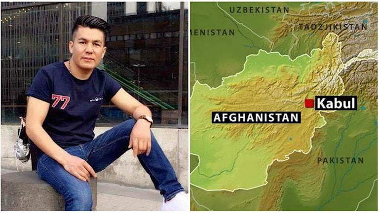 Mustafa Gholami är en av dem som ska deporteras tillbaka till Afghanistan med ett plan från Landvetter i kväll.