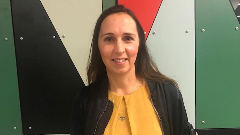 Therese Berg arbetar som Hållbarhetschef på Riksbyggen och hoppas på att kunna nå de som har svårt att ta sig in på bostadsmarknaden.