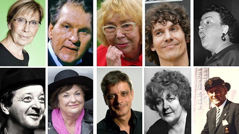 Tio ansiktsbilder på kända göteborgsskildrare