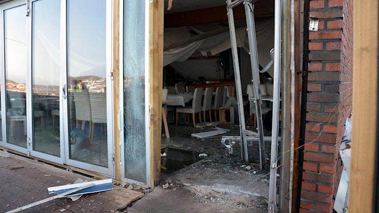 Förödelse efter explosion i restaurang i Ellös på Orust.
