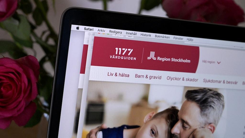 Internetsida för Vårdguiden 1177