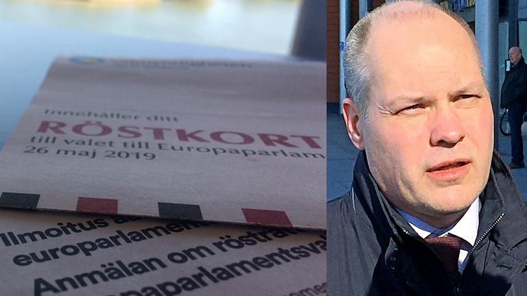 Röstkort från Finland och Sverige, Morgan Johansson intervjuas