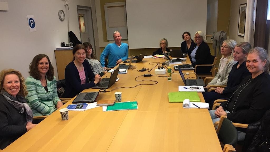 Nästan alla regionens förändringsledare runt samma bord - elva som ska förändra vården