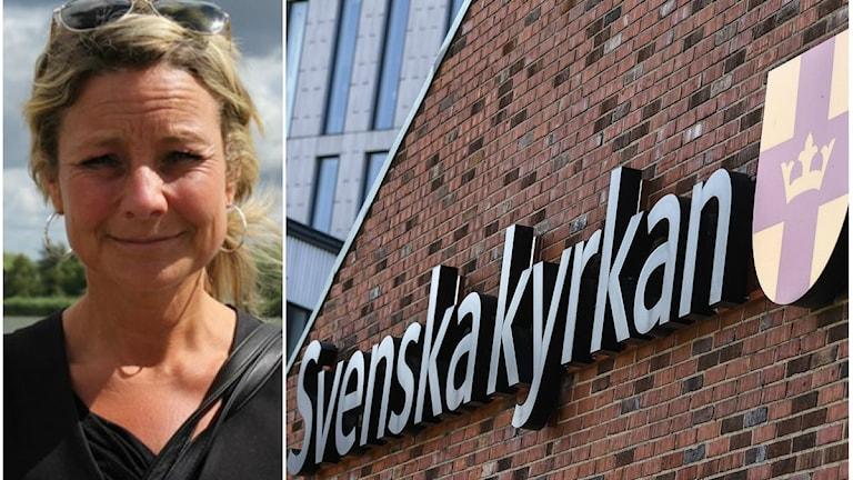 Matilda Brinck-Larsen vill se mer engagemang från Svenska kyrkan i Göteborg. Foto: Anna Erlandsson/Sveriges Radio, Johan Nilsson/TT