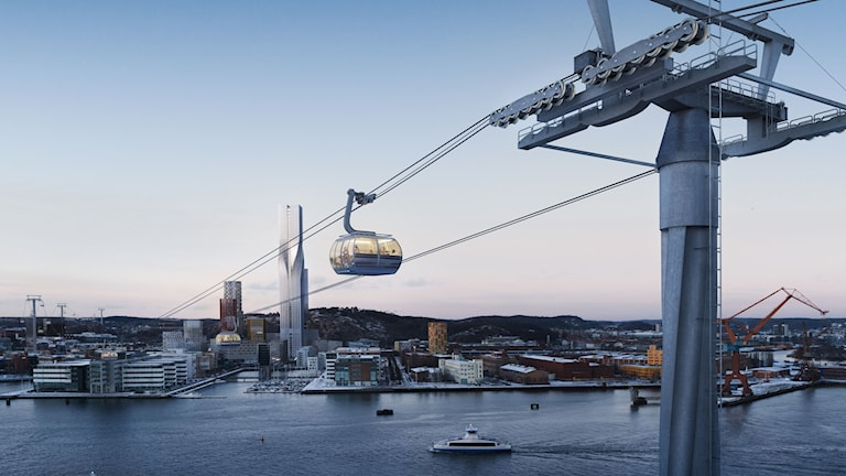 En bild som visar hur Göteborg kan se ut 2021