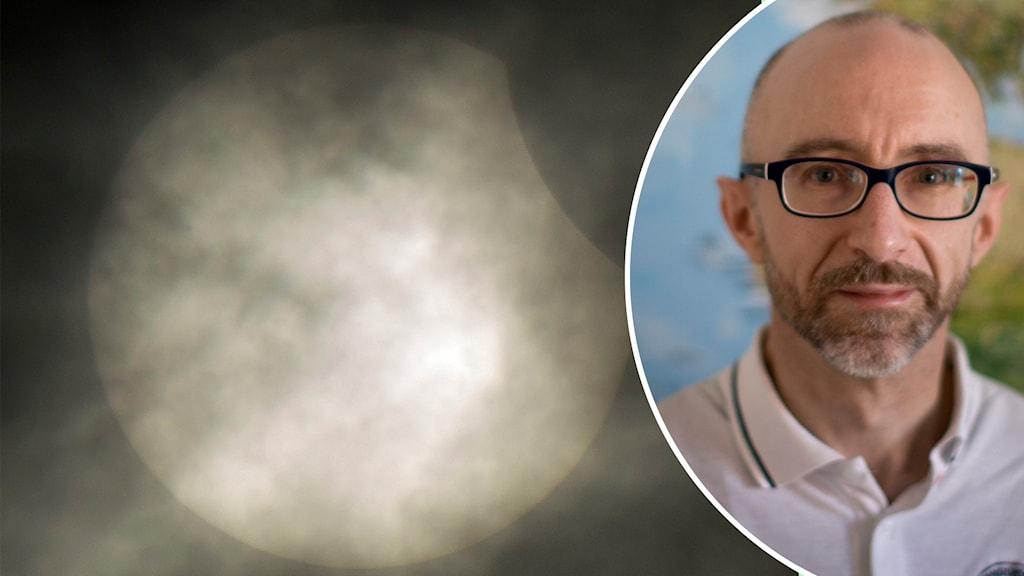 Robert Cumming, kommunikatör vid Onsala rymdobservatorium berättar om torsdagens solförmörkelse.